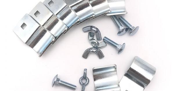 Morsetto tubo alluminio Ø 60,3//65 mmLunghezza 100 mm