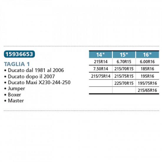 Proposteonline Catene da Neve Omologate 16mm 215 70 15 Compatibile con Fiat Ducato dal 2002 in Poi 05306