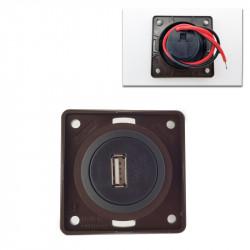 BMPUSB/MARRONE PRESA USB 5V 1000MA
