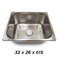 VASCHETTA INOX RETTANGANGOLARE 26X32H15