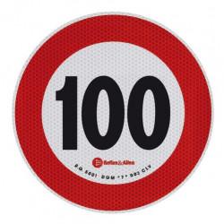 ADESIVO LIMITE VELOCITA' 100 KM OMOLOGATO D. 200MM